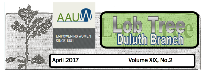 Spring 17 AAUW Duluth Newsletter (Lob Tree)
