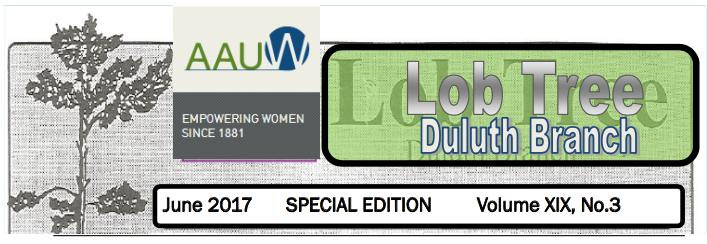 Summer '17 AAUW Duluth Newsletter (LobTree)